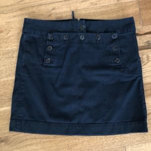 JCrew Sailor style mini skirt